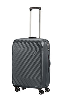 b308877073b3ba American Tourister Ziggzagg 4-wheel 67cm medium Spinner suitcase Titanium