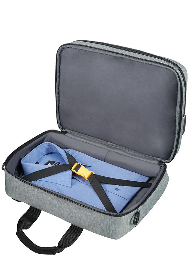 American Sac D'ordinateur Portable De Dérive City Tourister 15,6 Noir / Gris