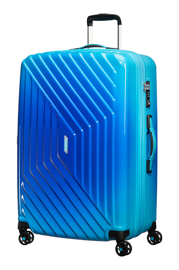 air force 1 4 wheel 76cm large spinner expandable suitcase gradient blue. Black Bedroom Furniture Sets. Home Design Ideas